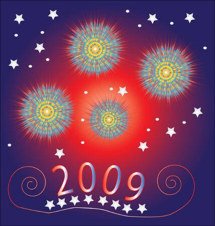 New year  Holiday backround. Ilustração