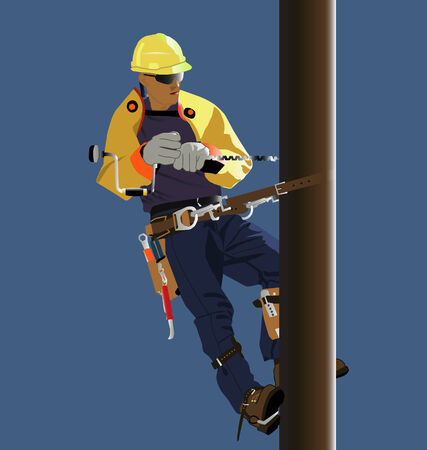 Utility worker Stock Vector - 4061768