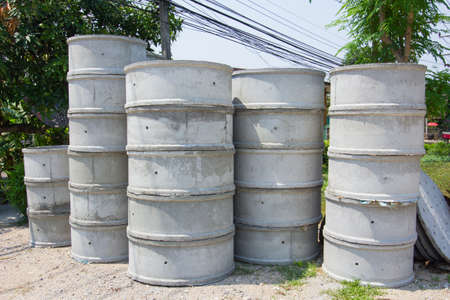 gunk: concrete septic tank for sale in Thailand Stock Photo