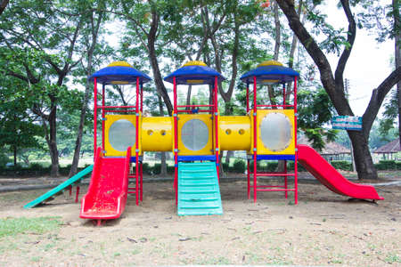 Playground without children in a park photo