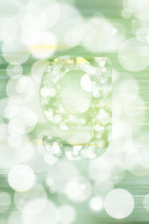 orthography: green bokeh english alphabet background, blured Stock Photo