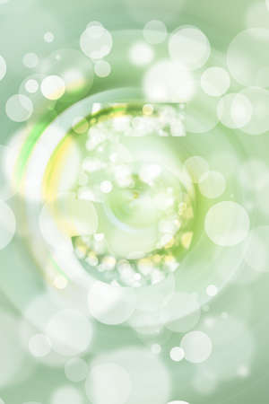 orthography: green bokeh number background, blured