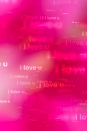 words i love you as red background photo