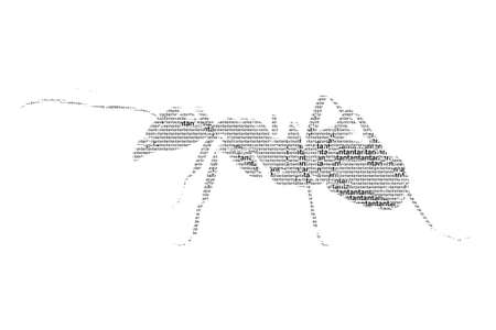 word ant mixed to be figure of ant, with typography style, isolated on white background photo