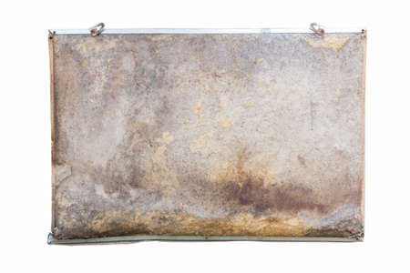 bar magnet: old board for notes, isolated on white background