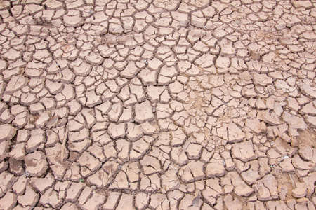 waterless: dried cracked mud,drought land so long waterless Stock Photo