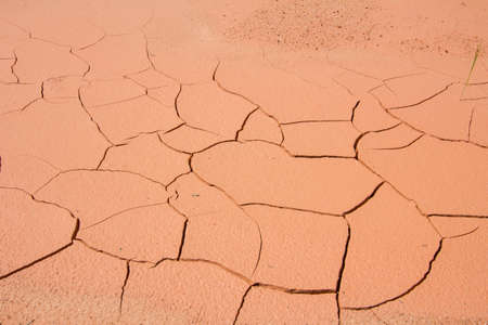 waterless: dried cracked mud,drought land , waterless, in thailand Stock Photo