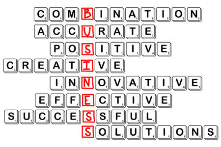 creativ: acronym concept of business -combinative,accura te,positive,creativ e,innovative,effect ive,cuccessful,solu tions, with scrabble letters