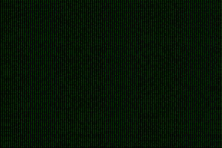 encoded: Binary computer code green background.