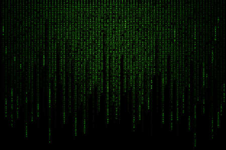 green matrix background computer generated Фото со стока - 31899214