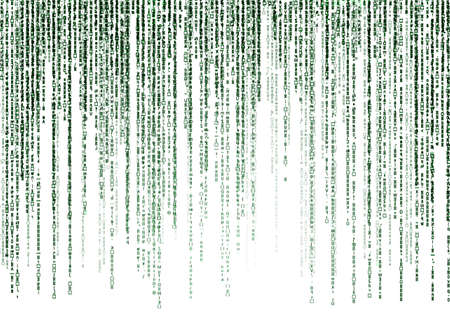 matrix code on white background