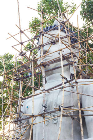 reconstruct: Buddha statue is reconstruct in the temple, thailand
