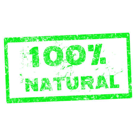 Abstract grunge office stamp with the text 100 % natural  on white background