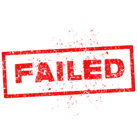 returned: FAILED red stamp text on white. Illustration