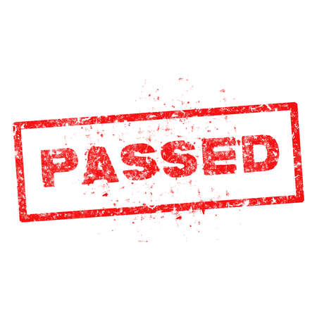passed: red Passed rubber stamp illustration. Illustration
