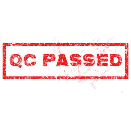 qc: QC Passed rubber stamp illustration Illustration