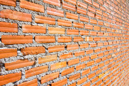 diminishing perspective: Brick wall with diminishing perspective.