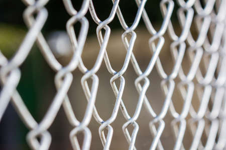closeup wire fence with the shot of shallow depth of field