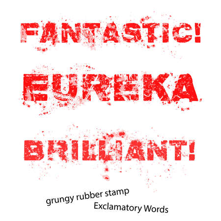 eureka: Grunge rubber stamp with text fantastic eureka brilliant ,vector illustration