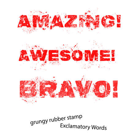 Grunge rubber stamp with text amazing awesome bravo ,vector illustration.