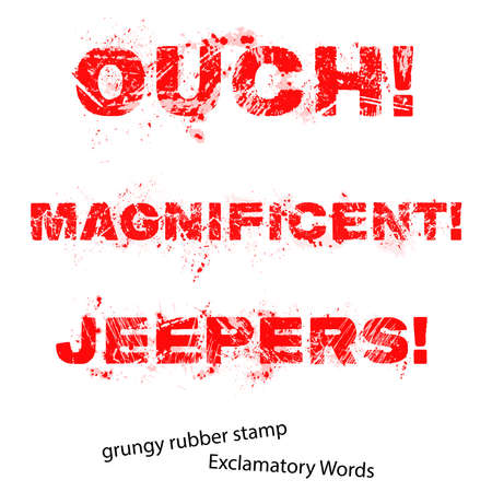 and the magnificent: Grunge rubber stamp with text ouch magnificent jeepers ,vector illustration