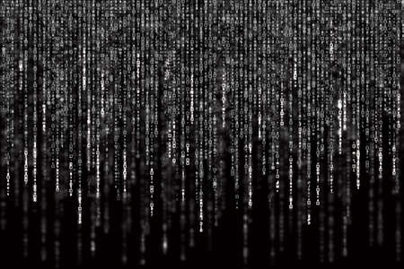 Digital Abstract background, black and white matrix. Stock Photo