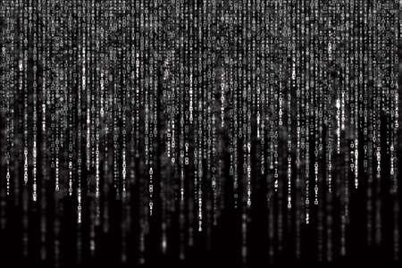 Digital Abstract background, black and white matrix. Standard-Bild