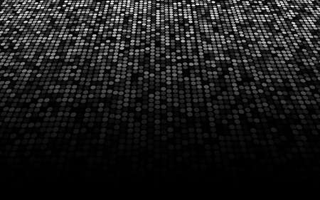 grubby: black and white dots stage background, perspective into thelight