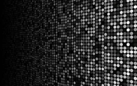 grubby: black and white dots stage background, perspective into the dark