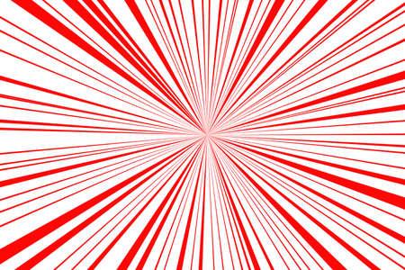 splotchy: red retro style sunburst on white background