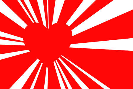 splotchy: red retro style sunburst, valentine background with red heart Stock Photo