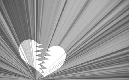betray: black valentine background, black and white starburst with white heart breaking Stock Photo