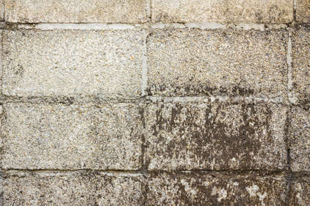 hollow walls: Hollow brick wall with grunge texture, background, close-up Stock Photo