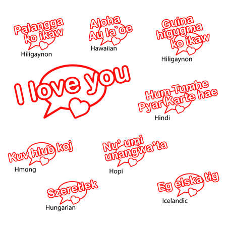 mariage: word i love you in different languages, love concept.