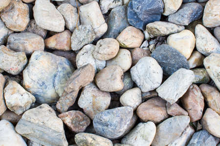 Pebbles as a background image on the ground