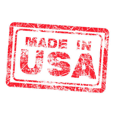 isoated: Made in USA red grunge rubber stamp iso;ated on white background, vector illustration