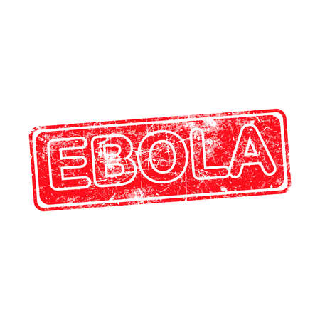 ebola: ebola red grunge rubber stamp vector illustration. Illustration