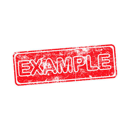 an example: example red grunge rubber stamp vector illustration.