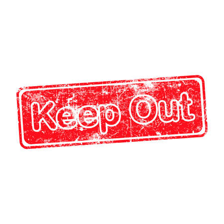 keep out: keep out red grunge rubber stamp vector illustration.