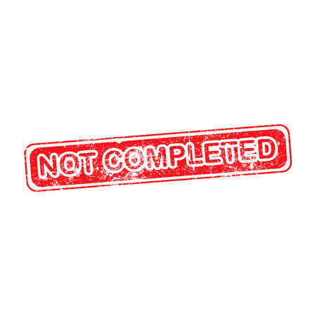 no correr: no completado de goma del grunge de ilustración rojo sello vector.