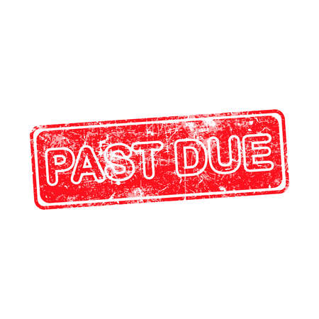 due: pass due red grunge rubber stamp vector illustration