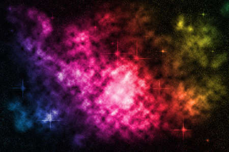 starfield: Deep space starfield with colorful nebula, background