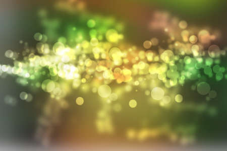 abstract warm orange yellow green background with beautiful bokeh photo