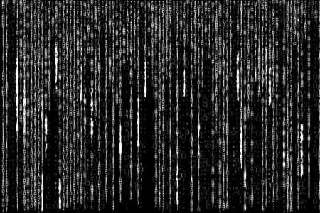 encoded: white matrix code generated on white background