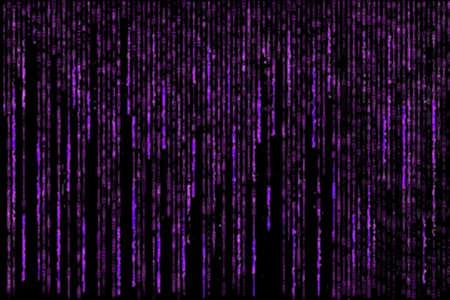 encoded: pink grunge matrix generated on black background Stock Photo