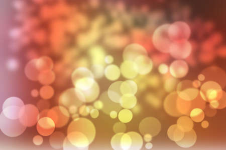 abstract warm orange yellow green background with wonderful twinkling bokeh photo