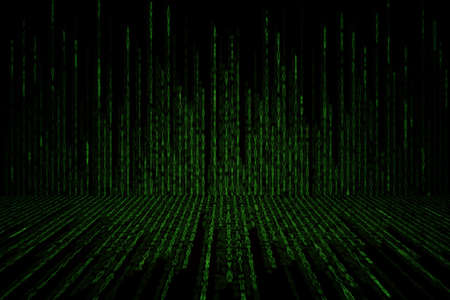 green matrix background computer generated, perspective concept