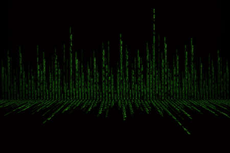 encoded: green matrix background computer generated, perspective concept