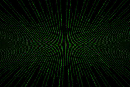 binary matrix: Matrix background with the green binary code , perspective with radial blur Stock Photo