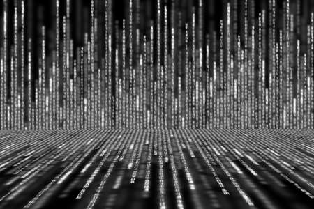 white matrix background computer generated, perspective concept Stock Photo